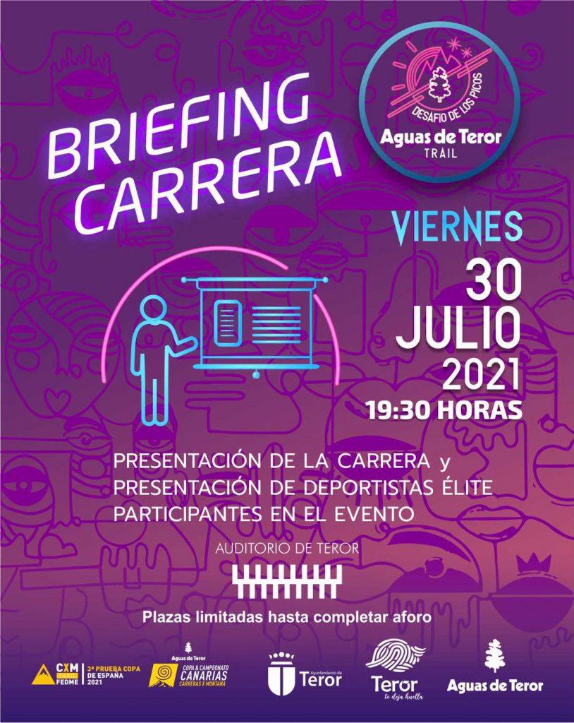 BRIEFING CARRERA y PRESENTACIÓN CORREDORES/AS ÉLITE